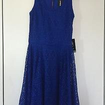 Brand New With Tags Blue Skater Dress Express Size Xs - Summer Dress - Blue Photo