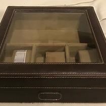 Brand New With Tags Fossil Brown Leather Watch Box/case Photo