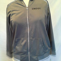Brand New With Tags Gray Sporty Dkny Zip Up Sweatshirt Orig 54.00 Photo