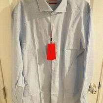 Brand New With Tags Hugo Boss Button Down Dress Shirt Blue Size 42 and 16 1/2  Photo