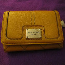 Brand New With Tags Relic by Fossil Tarin Bi-Fold Wallet Mustard Orig. 36.00 Photo