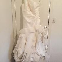Brand New With Tags Wedding Dress Vera Wang  Sleeveless Size 14 Ivory Color Photo