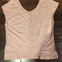 Brand New Without Tags Bcbgeneration Size M Blush With Stripes Shirt Photo