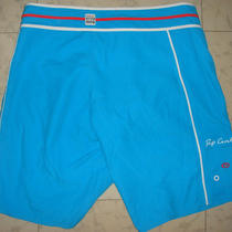 Brand New Woman Rip Curl Side Print Boardshorts Size 12 Aqua Blue Ripcurl Short  Photo