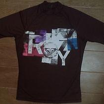 Brand New Woman Roxy Rash Guard / Vest  Size 10 - Brown Photo