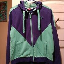 Brand New Women's Puma Spectrum Blueelectric Green Sz Med Hooded Sweatshirt Photo