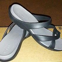 Brand New Women Size 9 Meleen Black/ Smoke Croslite Slip- on Sandal. Photo