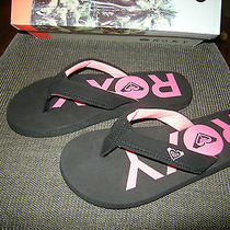 Brand New Womens Black & Pink Roxy Breakers Flip Flops Size 7 M Photo