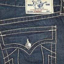 Brand Newtrue Religion Men's Jeans Size 38 Section Straight Seat Retail  319.00 Photo