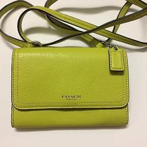 Brandnew Coach Avery Leather Iphone Crossbody Bag 50928 Chartreuse Photo