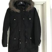 Brave Soul Black Parker Type Hooded Jacket Size 10 Photo