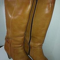 Brazilian Ladies Knee High High Heel Tan Leather Boost Size 10 M Pre-Owned Photo