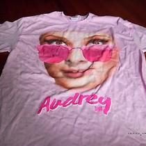 Breakfast at Tiffany's Black Pink Large L T-Shirt Audrey Hepburn New Nwot Sexy Photo