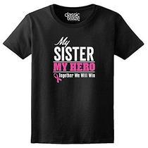 Breast Cancer Awareness - My Sister My Hero - Pink Ribbon - Womens T-Shirt Photo