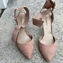Breckelle's Blush Pink Seude High Heel Sandal Shoes Size Us 8 Photo