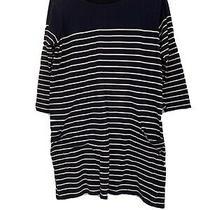 Breton Stripe Navy Jojo Maman Bebe Maternity Dress Size Medium 12-14 Photo