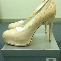 Brian Attwood Maniac Leather Nude Snakeskin Blush Pumps High Heels Shoes Size40 Photo