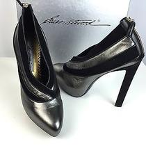 Brian Atwood for Lwren Scott Nib 890 Eur 41 Sz 11 Shoes Black & Suede/leather Photo