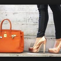 Brian Atwood Maniac Rose Gold Heel Size 39 8.5 Us Photo