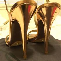 Brian Atwood Open Toe Rose Gold Heels Size 7 Photo