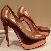 Brian Atwood Rose Gold Heels Size 40 Photo