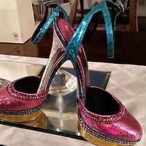 Brian Atwood Shoes  W/ Swarovski Crystals Size 6.5 Photo