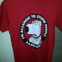 Brian Griffin T-Shirt (Small) i'm Allergic to Stupid People Photo