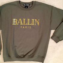 Brian Lichtenberg Army Green Gold Ballin Paris Balmain Sweatshirt Nwt M/l Photo
