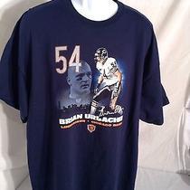 Brian Urlatcher 54 Chicago Bears T-Shirt Blue Size Xl (Best Offer) Photo