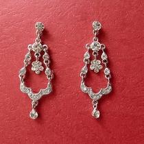 Bridal Chandelier Earrings Clear Swarovski Crystal E2186 Photo