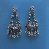 Bridal Chandelier Earrings Clear Swarovski Crystal Earrings  E2248 Photo