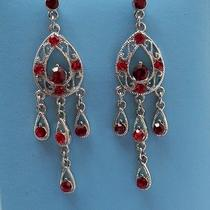 Bridal Chandelier Earrings Siam Swarovski Crystal E2066b Photo