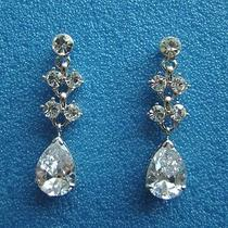 Bridal Cz Earrings Cubic Zirconia Swarovski Crystal Earrings Perfect Gift E31 Photo