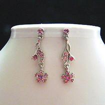 Bridal Dangle Earrings Swarovski Crystal Party Earrings Perfect Gift E1198 Photo