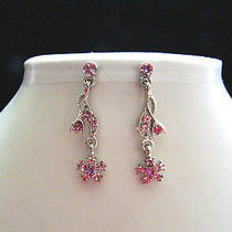 Bridal Dangle Earrings Swarovski Crystal Party Earrings Perfect Gift  E1198 Photo