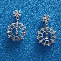 Bridal Dangle Earrings Swarovski Crystal Perfect Gift E1179 Photo