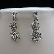 Bridal Dangle Earrings Swarovski Crystal Perfect Gift E1187 Photo