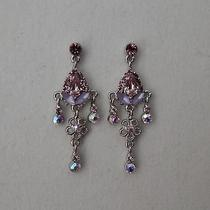 Bridal Earrings Lt Amethyst Swarovski Crystal E1133a Photo