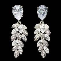 Bridal Hollywood Chandelier Earring Glamorous Wedding Madewith Swarovski Crystal Photo