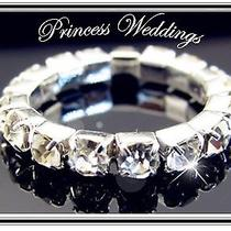 Bridal Jewelry 1 Row Rhinestone Stretch Ring New Sparkle & Shine Photo