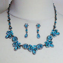 Bridal Prom Necklace Earrings Jewellery Sets Various Colours 65% Off Photo