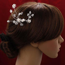 Bridalpromparty Hair Flower With Swarovski Crystals Photo