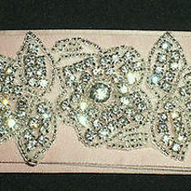 Bridal Wedding Satin Belt Rhinestones Design a - Custom Made Photo