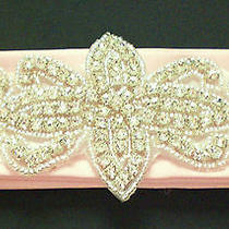 Bridal Wedding Satin Belt Rhinestones Design B - Custom Made Photo