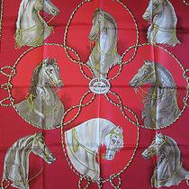 Brides Legeres Hermes Scarf  (New-Tags) Rare Vintage 100% Silk 90cm Carre  Photo