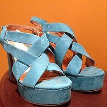 Bright Blue Platform Sandal Photo