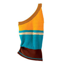 Bright Color Block One Shoulder Asymmetrical Knit Top by Malo Sz 42 Italian Photo