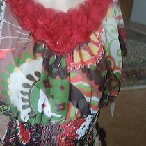 Bright Colors With Rose Detail and Cinched Elastic Waist Photo