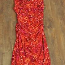 Bright Fall Ralph Lauren Ruched Work Dress - Red and Orange Floral Photo