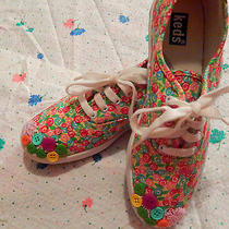 Bright Floral Kitsch Custom Simple Bling Shoes Flats Photo